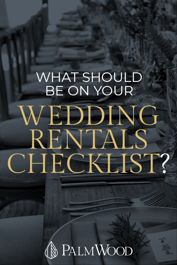 Wedding Rentals Checklist - Pin